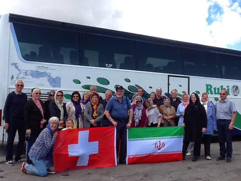 Fahnen Schweiz - Iran